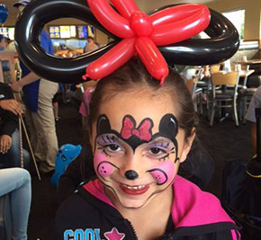 Fun Face Painting by Cuddles and Billy the Clowns